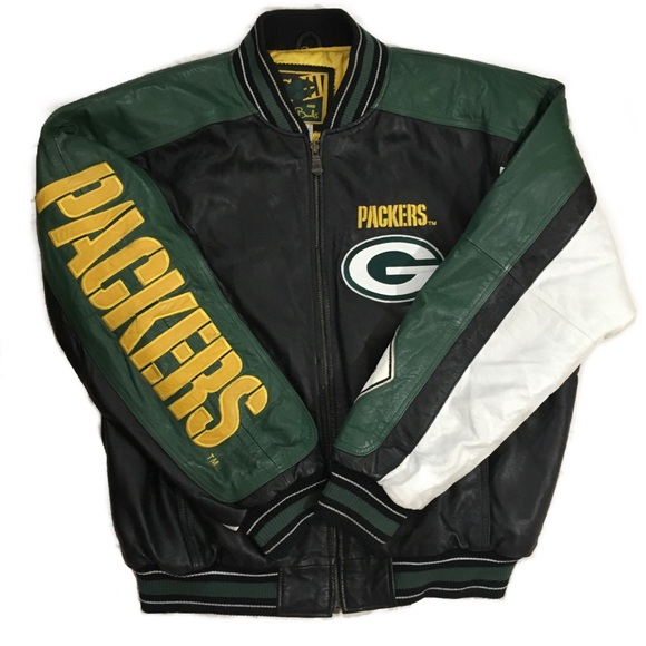0f2e4ec2 Vintage Green Bay Packers Leather Jacket